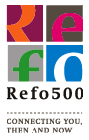 REFO 500 Logo ondertitel - connecting you then and now_icoon_128px